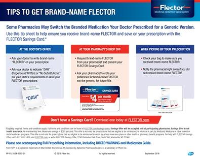 Flector tip sheet