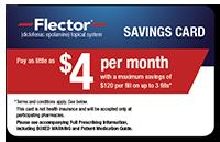 Flector savings card